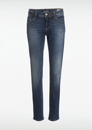 Jeans slim 5 poches denim stone femme