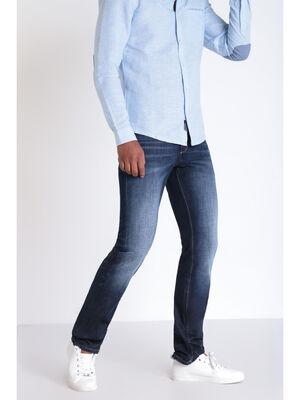 Jeans regular poches fantaisie denim stone homme