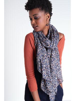Foulard bleu gris femme