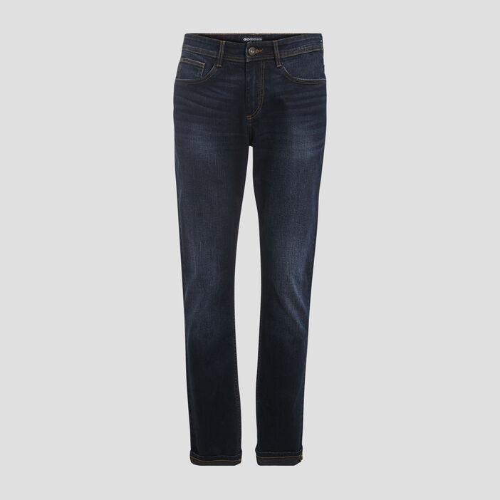 Jeans éco-responsable straight denim brut homme