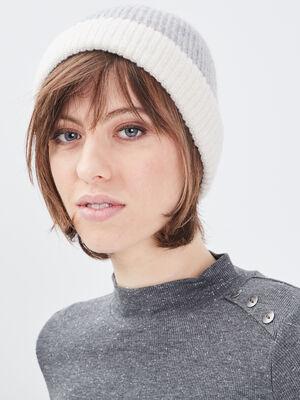 Bonnet gris femme