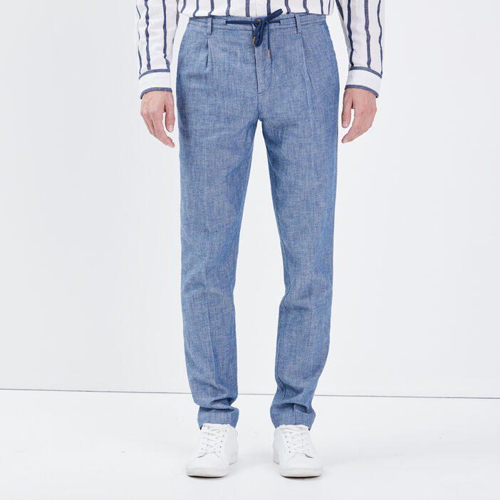 Pantalon chino denim stone homme