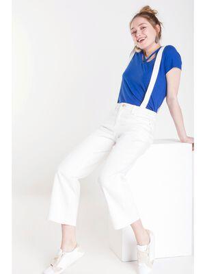 jeans bootcut bretelles femme zero tache white