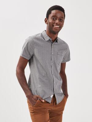 Chemise manches courtes noir homme
