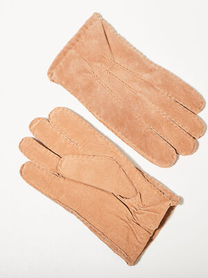 Gants en cuir marron homme
