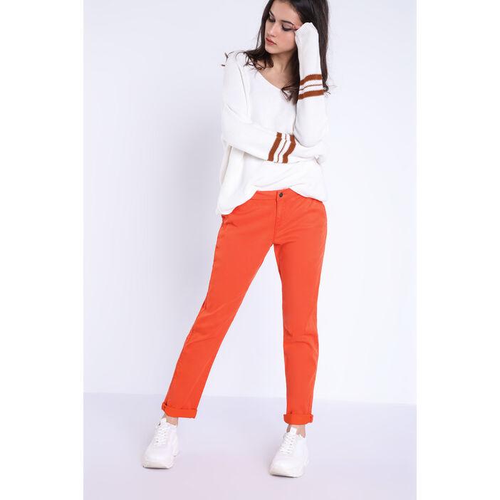 pantalon femme orange
