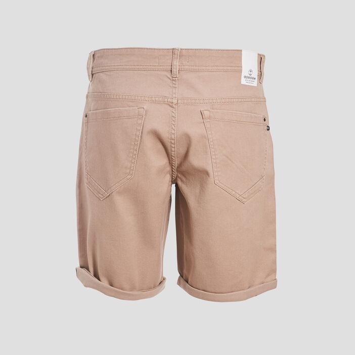 Bermuda droit en jean marron homme