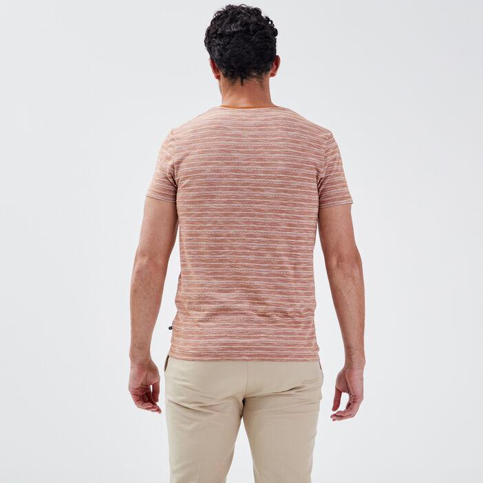 T-shirt manches courtes marron homme