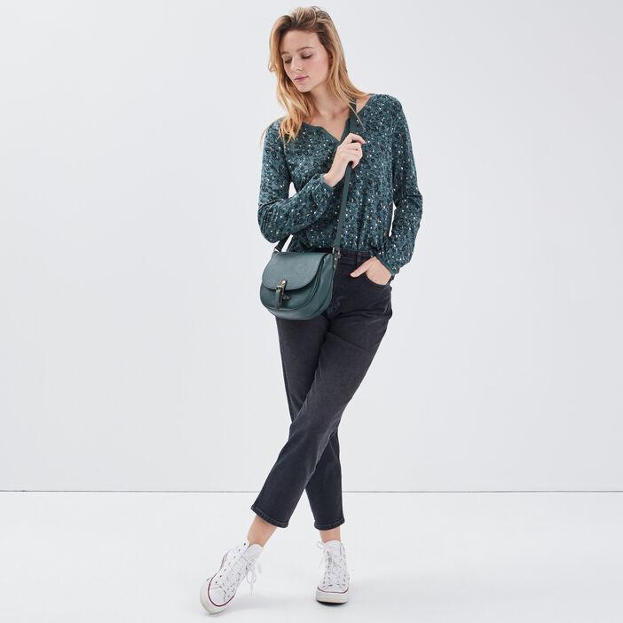 T-shirt éco-responsable vert émeraude femme