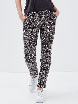 Pantalon chino Instinct noir femme