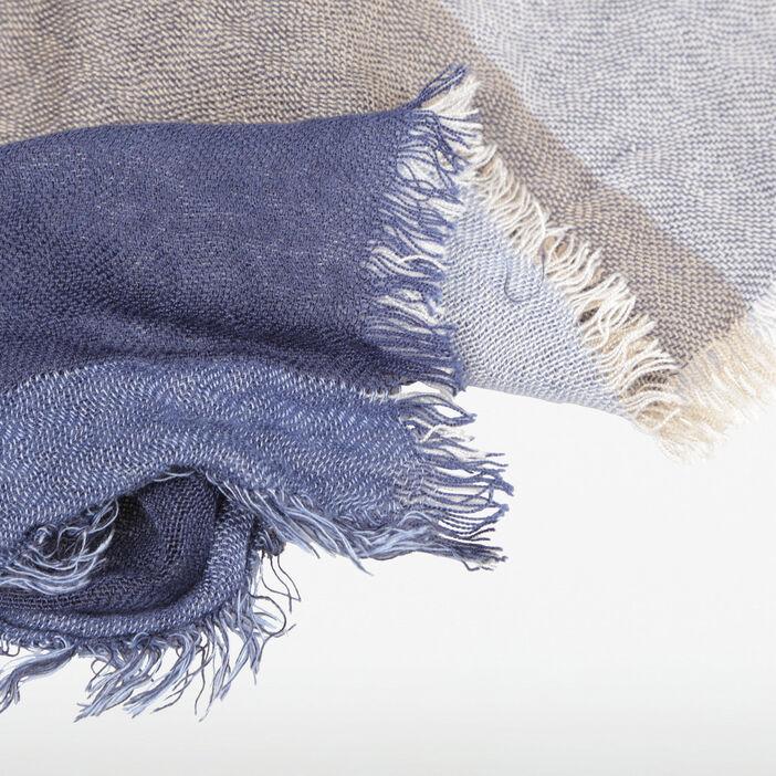 Foulard maille multicolore bleu gris homme
