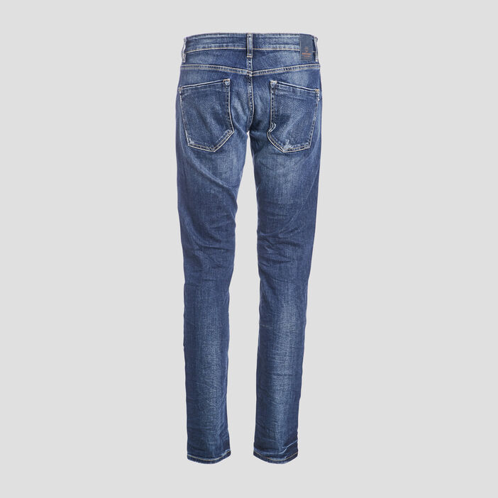 Jeans slim effet destroy denim dirty homme
