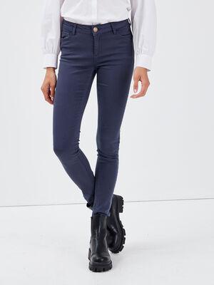 Pantalon Audrey  skinny push up bleu marine femme