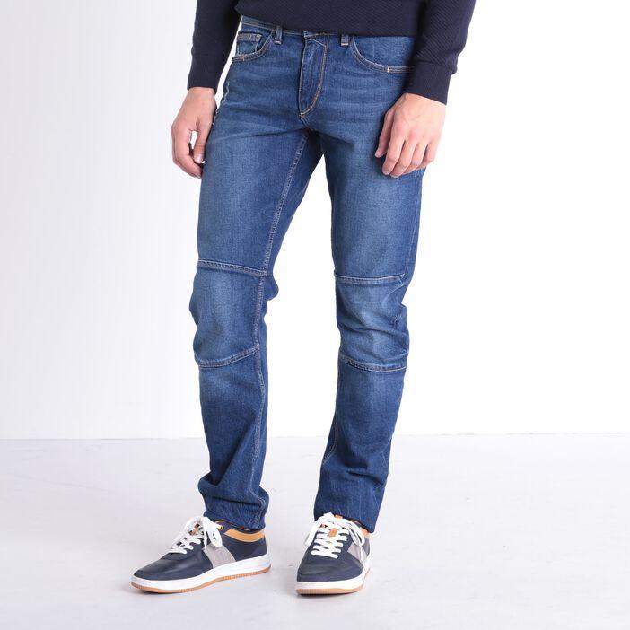 Jeans slim destroy 6 poches denim used homme