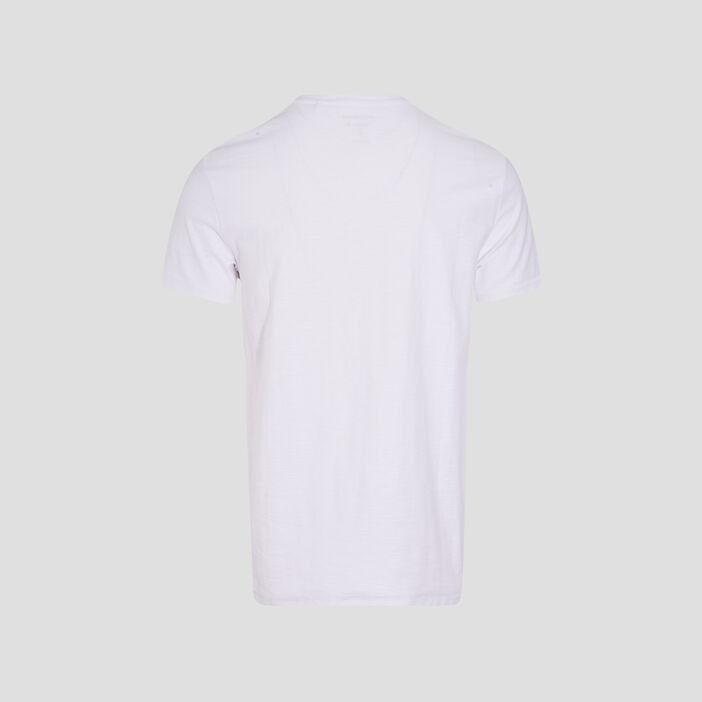 T-shirt manches courtes blanc homme