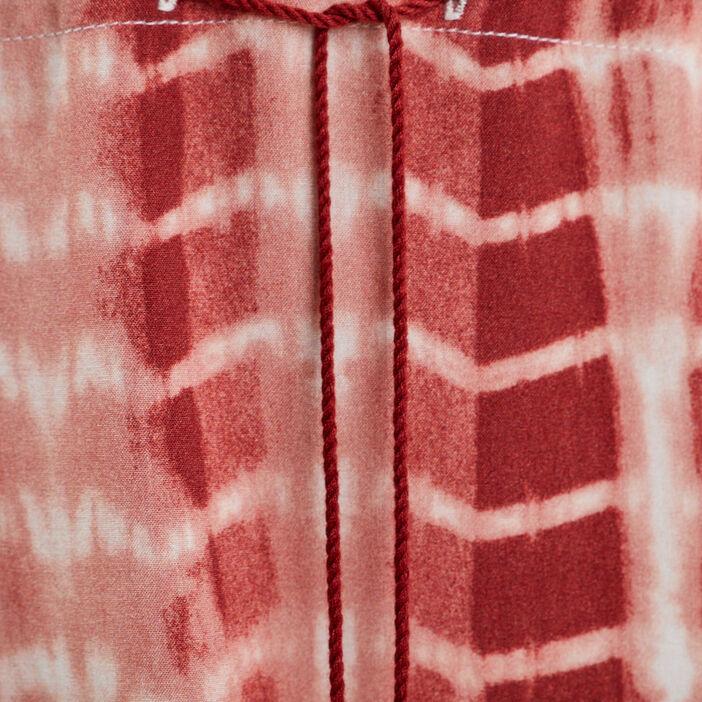 Robe longue fluide à bretelles marron clair femme