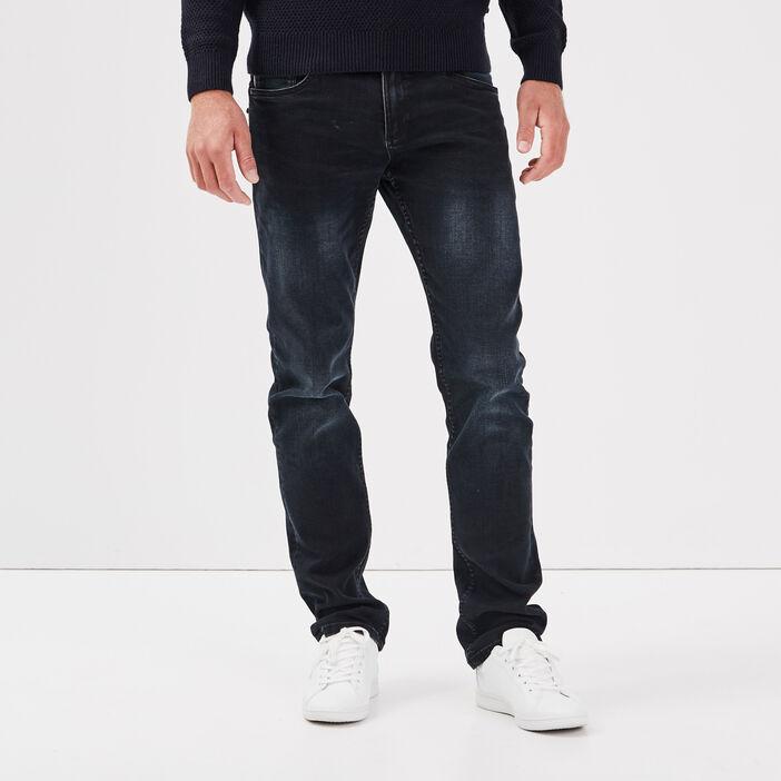 Jeans straight ultra stretch denim blue black homme
