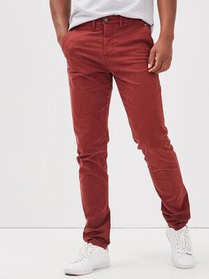 Pantalon slim Instinct chino rouge fonce homme