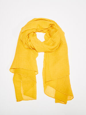 Foulard plisse jaune femme
