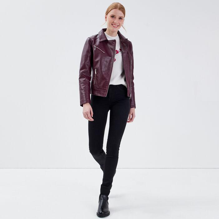 Jeans Lou - jegging en coton bio denim noir femme