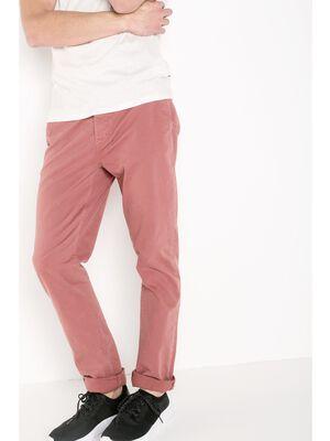 pantalon homme chino straight vieux rose