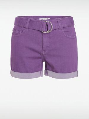 Short violet fonce femme