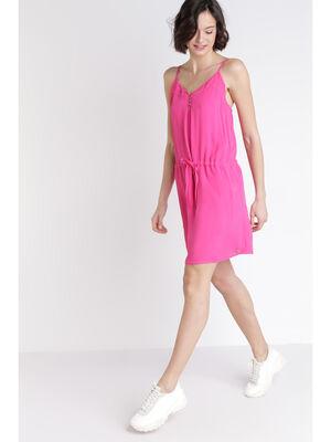 Robe imprimee rose fushia femme