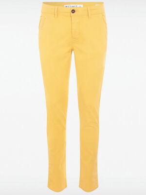Pantalon slim Instinct jaune homme