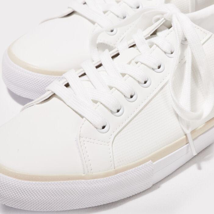 Tennis plates blanc homme