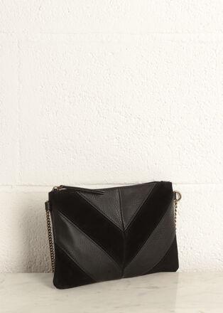 Pochette bandouliere chaine noir femme