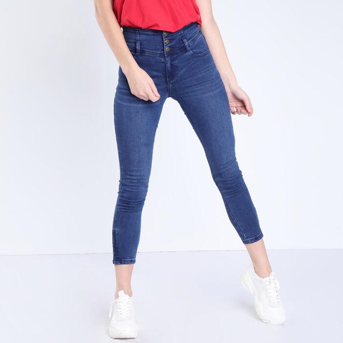Jeans skinny taille haute denim stone femme