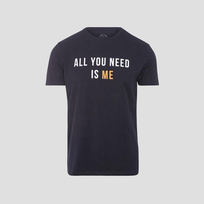 T-shirt éco-responsable bleu foncé homme
