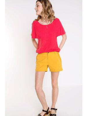 T shirt col rond Instinct rouge femme