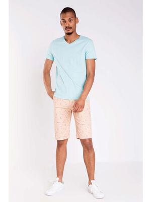 Bermuda imprime orange clair homme