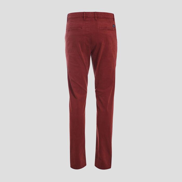 Pantalon slim Instinct chino rouge foncé homme