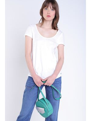 T shirt detail blanc femme