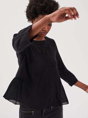 Blouse manches 34 noir femme