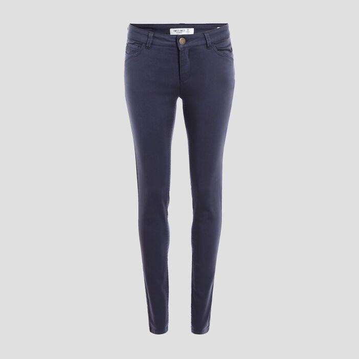 Pantalon Audrey - skinny push up bleu marine femme
