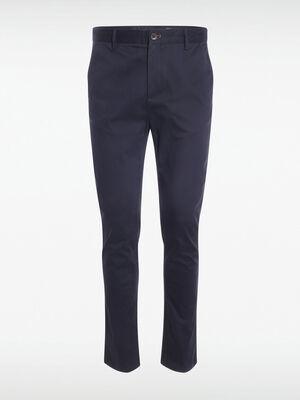 Pantalon chino details chics bleu marine homme