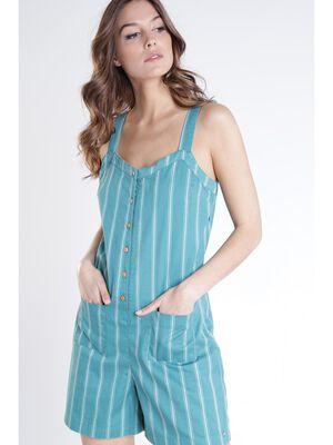 Combi short vert femme
