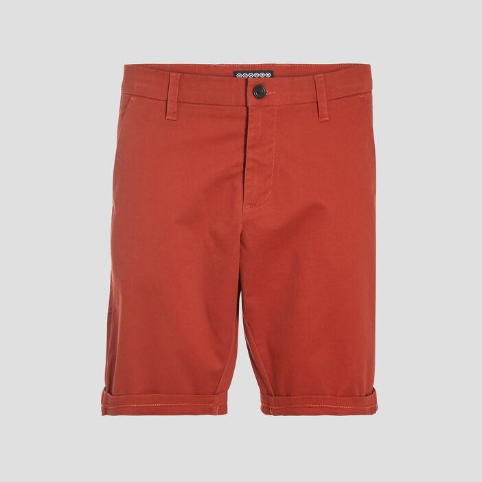 Bermuda droit éco-responsable orange foncé homme