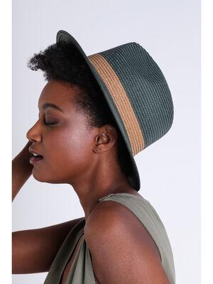 Chapeau colore vert femme