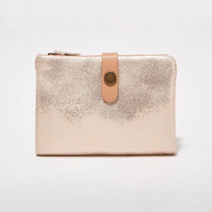 Portefeuille beige femme