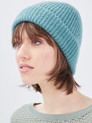 Bonnet bleu canard femme
