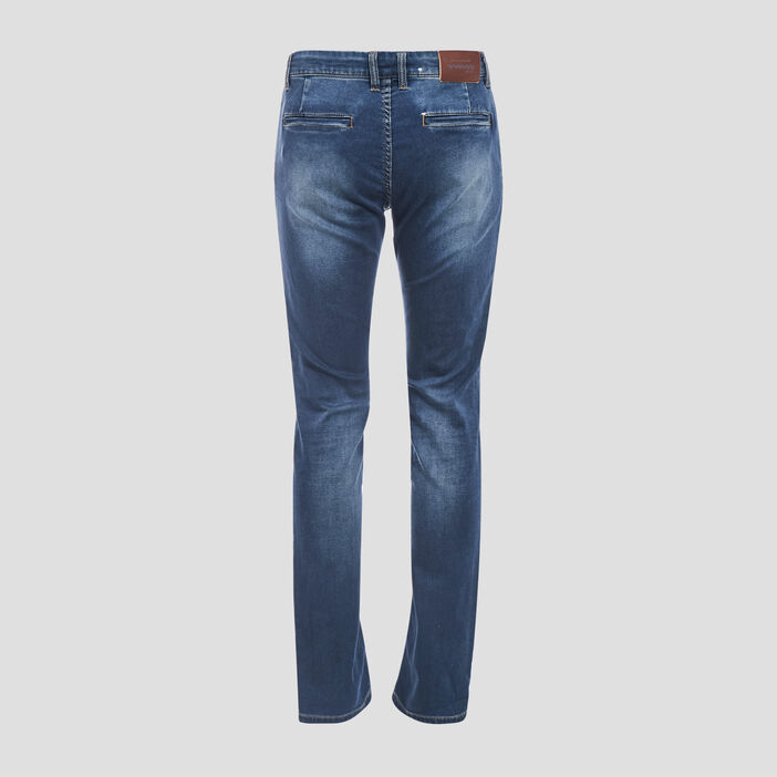 Jeans straight délavé denim brut homme