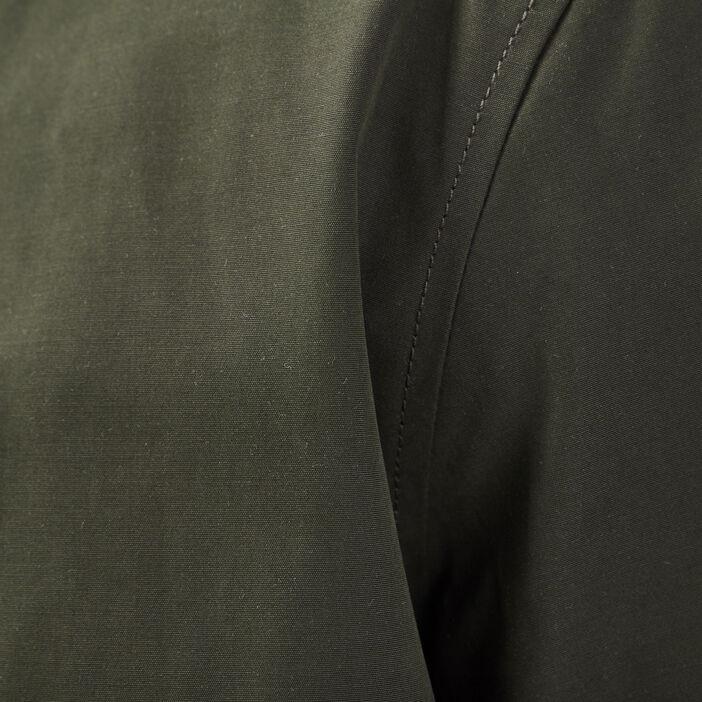 Veste teddy droite zippée marron foncé homme
