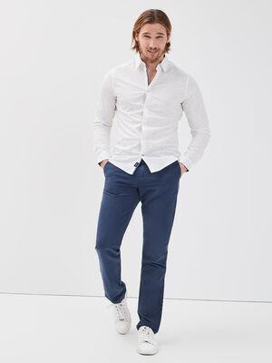 Pantalon chino eco responsable bleu fonce homme