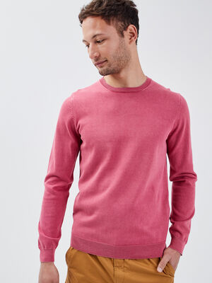 Sweat col rond vieux rose homme
