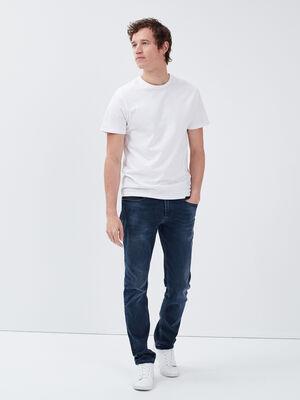Jeans straight denim gris homme