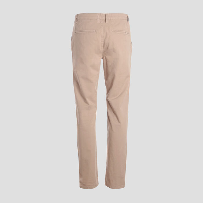 Pantalon slim Instinct chino marron homme